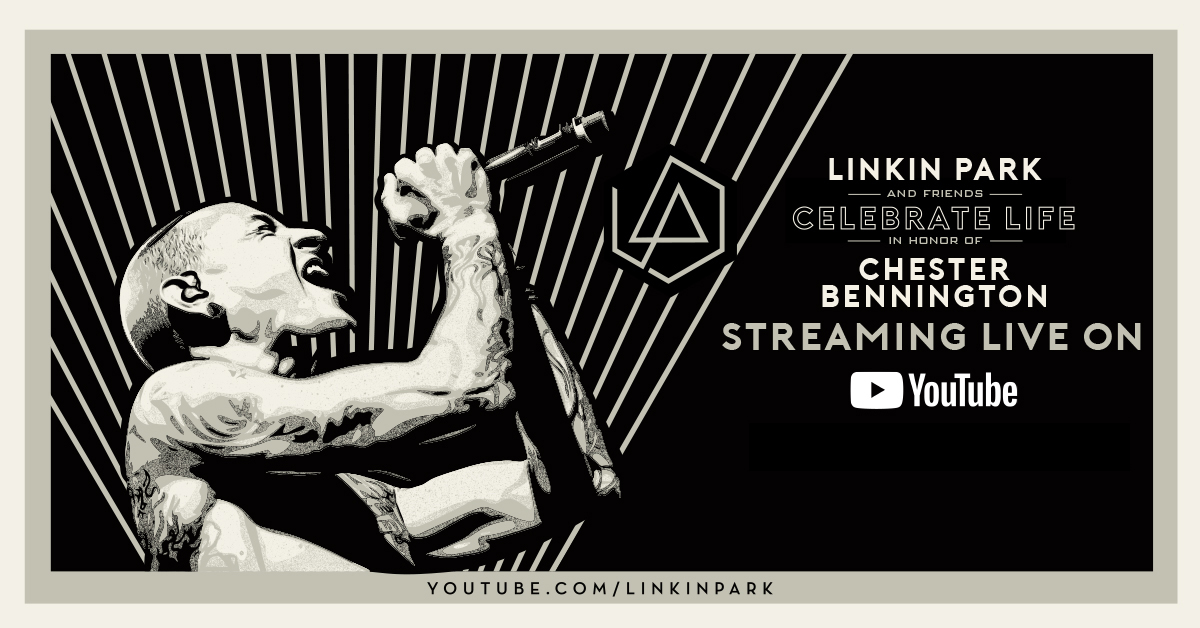 「LINKIN PARK & FRIENDS - CELEBRATE LIFE IN HONOR OF CHESTER BENNINGTON」YouTubeでのライブ・ストリーミングが決定